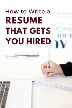 How to Write a Resume That Gets You Hired. // Resume Tips // Job Search Tips // Personal Branding for Your Career // Resume Design // Resume Help