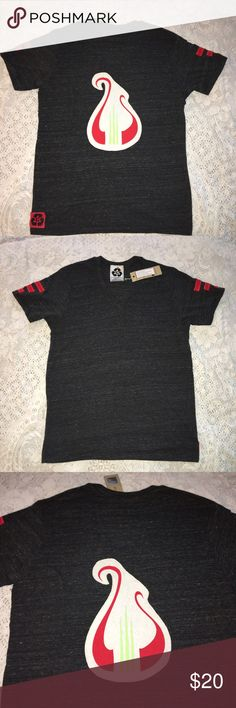 NWT Alpha Chi Omega charcoal gray boyfriend tee. M NWT Alpha Chi Omega soft charcoal gray boyfriend V neck short sleeve tee. Size AM. 50% polyester 38% cotton 12% rayon. Red & green sorority traditional logo appliqué on back. Solid front. Relaxed, loose fit. Made in USA. $54 retail. Rare and one of a kind. #greek #life #college #university #alpha #chi #omega #sorority #pledge #gray #red #big #little #sister #nwt #tee #vneck Never used. Smoke free home. Check closet for similar items…