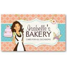 Whimsical Bakery Business Card Chef De Cuisine Carte Visite Mise En Page