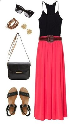 Summer maxi dress and accessories