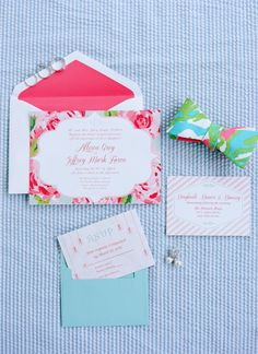 Lilly Pulitzer wedding invitation | Faith Teasley