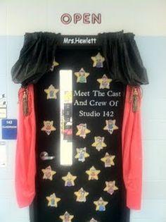 Fourth Grade Fanatic: Classroom Pictures Update Stars Classroom, Classroom Door, Classroom Design, Classroom Displays, Future Classroom, Classroom Themes, School Classroom, Classroom Organization, Movie Classroom