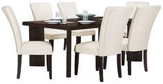 Delano2 White Rectangular Table
