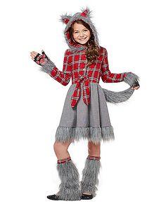 Kids Faux Fur Charming Werewolf Costume - Spirithalloween.com