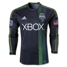 56c9a5d1c Seattle Sounders FC 2013 Authentic LS Secondary Soccer Jersey 11-Zakuani  Football Tops, Football