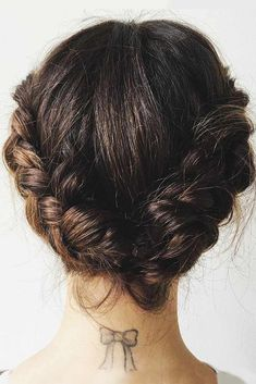 braids - The Product Lucy Hale's Stylist Swears By to Transform Her Short Hair Into a Braided Updo Cute Braided Hairstyles, Short Hairstyles For Women, Gorgeous Hairstyles, Updo Hairstyle, Ladies Hairstyles, Vintage Hairstyles, Bob Updo, African Hairstyles, Protective Hairstyles