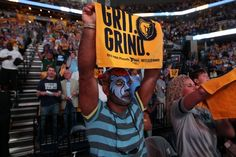 May 13, 2013 - Jason Lurie cheers on the Memphis Grizzlies at the FedExForum Monday evening. (Nikki Boertman/The Commercial Appeal)