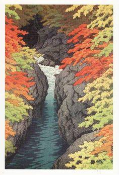 川瀬巴水の木版画 http://blogs.yahoo.co.jp/abbysasaki/27251612.html