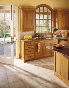 idea to spruce up kitchen. jazz up cabinets, new counter. work with what you have!