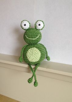 Prince Charming  Crocheted frog
