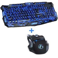 RAJFOO X-man 2 Colorful Backlit Gaming Keyboard and Mouse Set
