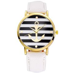 Cheap dress designs for big women, Buy Quality dresses offers directly from China dresses cotton Suppliers: Vansvar Hot Sale Leather Strap Anchor Watch Women Casual Quartz-Watches Reloj Mujer Relogio Feminino 898 Anchor Watch, Women's Dress Watches, Women's Watches, White Watches, Unique Watches, Jewelry Watches, Casual Watches, Fashion Watches, Fashion Brand