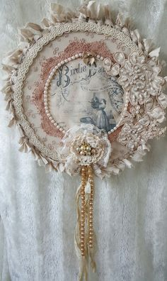 Vintage style dreamcatcher , Shabby chic decor , Gift for her , Shabby chic wall…