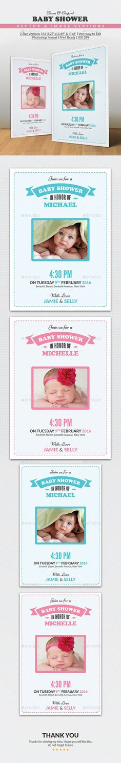 Baby Birthday Cards 4 Colors PSD Fonts, Texts and Birthdays - birthday invitation card template photoshop
