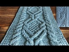 Aran Knitting Patterns, Cable Knitting, Knitting Videos, Knitting Stitches, Knitting Needles, Celtic Patterns, Crochet Coat, Knitted Afghans, Lana