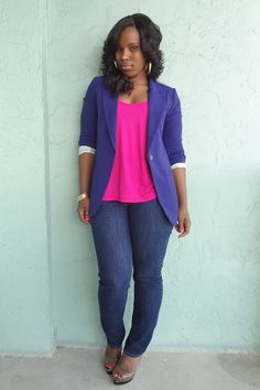 Uniform Of The Day---pink and purple