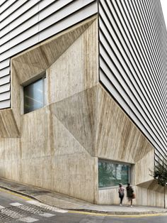 The Aga Khan Award for Architecture Announces 2016 Shortlist,Ceuta Public Library, Ceuta, Spain, Paredes Pedrosa Arquitectos. Image Courtesy of The Aga Khan Award for Architecture Building Exterior, Building Facade, Building Design, Facade Architecture, Amazing Architecture, Contemporary Architecture, Unusual Buildings, Amazing Buildings, Interior Exterior