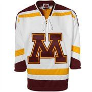Minnesota Golden Gophers White Tackle Twill Hockey Jersey