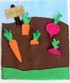 Adorable garden quiet book page