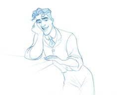 """Character design sketch of Prince Naveen from Disney's """"The Frog Princess"""" by Randy Haycock."""