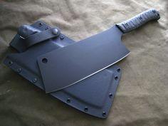 Custom Cleaver. www.millerbrosblades.com Custom Handmade knives, sword & tomahawks.
