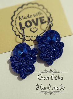 Gombicka27 / Modré šujtáš náušnice