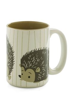 Coffee is Critter-cal Mug. Cant get rolling without your morning java? #modcloth