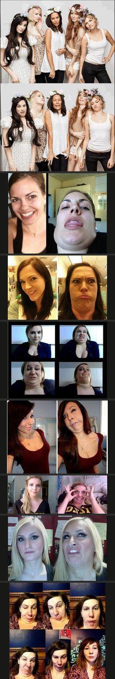 Pretty Girls making weird faces