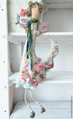 Сказочные персонажи ручной работы. Ярмарка Мастеров - ручная работа. Купить цветочная текстильная кукла ручной работы. Handmade. Ангел