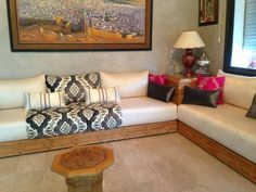"""Search Result for """"salon marocain 2018 moderne"""" by Moroccan Room, Moroccan Interiors, Moroccan Style, Living Room Remodel, Living Room Decor, Bedroom Decor, Indian Seating, Arabian Decor, Sofa Design"""
