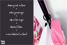 Styleberry BLOG-no sew blackout curtains for nursery