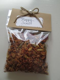 I made a little Good-bye Granola treat - two of our neighborhood friends are moving away and there is a little breakfast to say goodbye . Moving Away Parties, Moving Away Gifts, Retirement Party Decorations, Retirement Ideas, Retirement Quotes, Retirement Gifts, Goodbye Party, Goodbye Gifts, Party Gifts