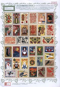 Around the World's Postage Stamps Picture Cross Stitch Boards, Cross Stitch Love, Cross Stitch Samplers, Cross Stitching, Cross Stitch Embroidery, Cross Stitch Patterns, Vintage Cross Stitches, Postage Stamps, Needlework
