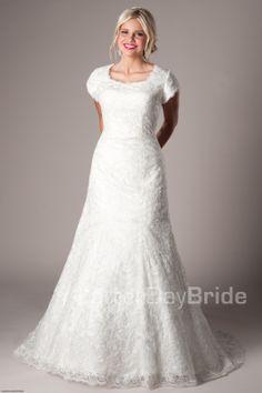 Modest Wedding Dresses :  Mormon LDS Temple Marriage - Kingsbridge
