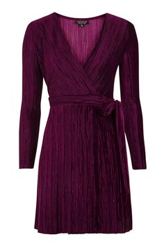 Pleated Velvet Wrap Dress 52€