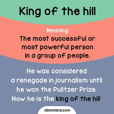 Are you the king of the hill? #idiom #idioms #english #learnenglish #kingofthehill