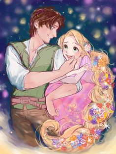 Rapunzel and Eugene by disney y. This is SO cute :)
