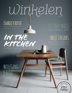 Winkelen magazine May 2014 Edition Winkelen online home magazine showcases unique and beautiful homewares all delivered in a stunning publication with easy navigation. Magazine Design, Cool Magazine, Magazine Examples, Handwritten Type, Identity, Magazine Spreads, Cover Style, Catalog Design, Publication Design