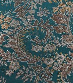 Brocade Fabric-Paisley Jade Tan
