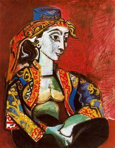 Pablo Picasso | Jacqueline en vestido turco | 1955