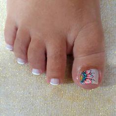 Cute Toe Nails, Cute Toes, Cute Acrylic Nails, Toe Nail Art, Cute Toenail Designs, Toe Nail Designs, Acrylic Nail Designs, Hair And Nails, My Nails