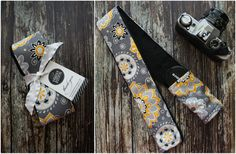 Image of Floral Sunshine with Minky Camera Strap Cover