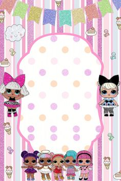 The centerpiece at this LOL Surprise Dolls birthday party i - Her Crochet Unicorn Invitations, Birthday Party Invitations, 6th Birthday Parties, 7th Birthday, Lol Doll Cake, Leelah, Doll Party, Lol Dolls, Party Time