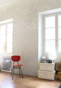 Hey, I found this really awesome Etsy listing at https://www.etsy.com/listing/521032357/geometric-pattern-vinyl-wallpaper-self