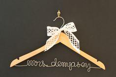 Whiskey & Wedding Bells personalized hangers