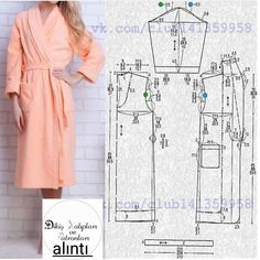Need Some Sewing Patterns? Clone Your Clothes - Sewing Method Sewing Coat, Sewing Pants, Sewing Clothes, Dress Sewing, Pajama Pattern, Kimono Pattern, Clothing Patterns, Dress Patterns, Sewing Patterns