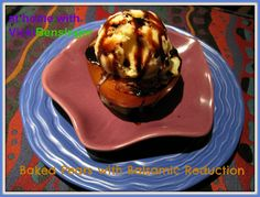 At Home with Vicki Bensinger, In-Home Culinary Classes: Korean Pear Tartlet with Pear Liqueur & Baked Pears with Ice Cream and Balsamic Reduction!