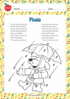 Ploaia Fall Crafts, Diy And Crafts, Rhymes For Kids, Dramatic Play, Projects For Kids, Vines, Pic Pic, Poems, Preschool