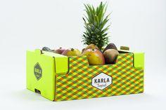Diseño de Etiqueta de Fruta: Karla Tropical