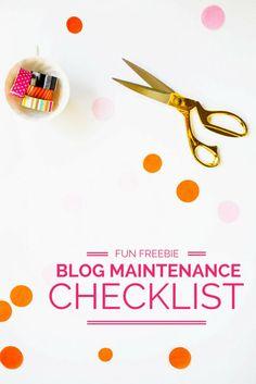 FREE blog maintenance checklist printable!
